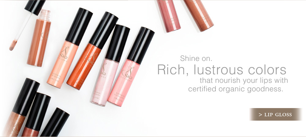 Shine on. Rich, lustrous colors that nourish your lips with certified organic goodness.